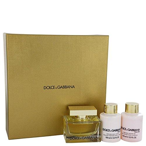 Dölce & Gäbbana The Oné Perfume For Women Gift Set - 2.5 oz Eau De Parfum Spray + 3.4 oz Body Lotion + 3.4 oz Shower Gel