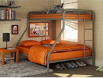 Amazon.com: This Kids sturdy Twin Over Full Metal Bunk Bed is made