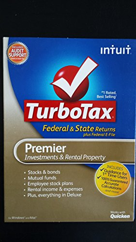 TurboTax 2012 Premier for Federal and State MAC and (Turbotax Real Estate)