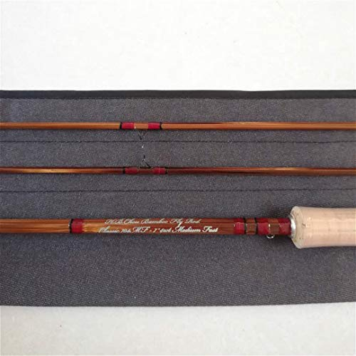 GUFIKY Fine-Crafted Handmade Bamboo Fly Rod 7ft,4wt,2 Pieces Medium Fast Fishing Rods with a Free Spare Tip