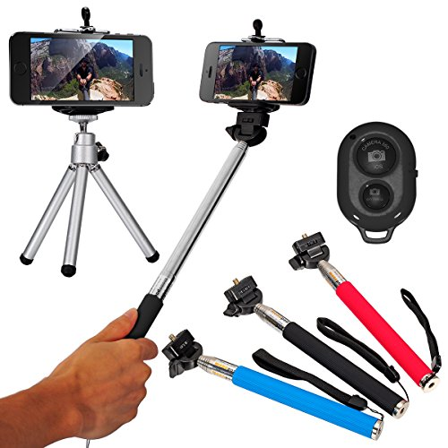 XCSOURCE DC494 Monopod Bundle with Phone Mount Holder, Tripod, Bluetooth Wireless Shutter Remote Control