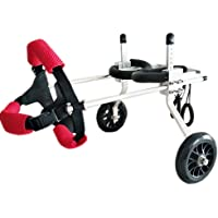 Pet Scooter,Large Auxiliary Bracket Wheelchair Paralyzed Disabled Dog Aluminum Alloy Ultra-Lightweight Customizable Common Free Installation Adjustable (Size : M)