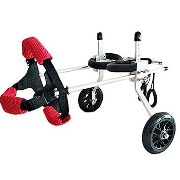 Scooter para Mascotas, Soporte Auxiliar Grande Silla de Ruedas Paralizada Perro discapacitado Aleación de Aluminio Ultra Ligero Implementación común Fácil ...