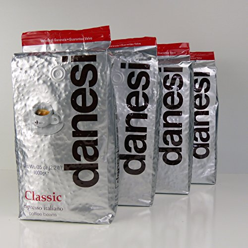 Danesi Caffe Classic Classico Espresso Beans (4 x 2.2 lbs bag) by Danesi Cafe