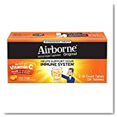 Airborne Zesty Orange Effervescent Tablets, 36 count - 1000mg of Vitamin C - Immune Support Supplement