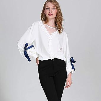 ❤ Tefamore Camisas Mujer Patchwork Manga Larga Blusa de Mujer O-Cuello Camiseta Otoño Moda T-Shirt: Amazon.es: Ropa y accesorios