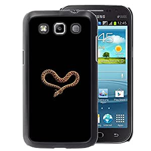 A-type Arte & diseño plástico duro Fundas Cover Cubre Hard Case Cover para Samsung Galaxy Win I8550 (Heart Love Snake Anaconda Black Brown)
