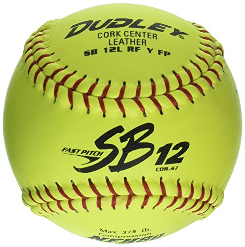 Dudley NFHS SB 12L Fast Pitch Softball - Red Stitching - 12 pack ()