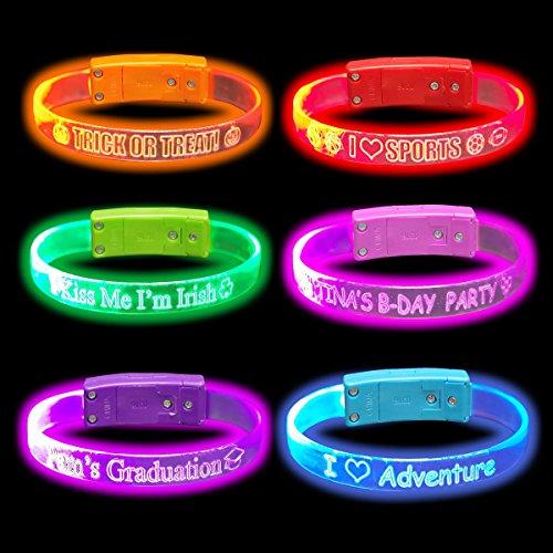 Personalized & Custom LED Light Up Wristbands / (Glow Wristband)