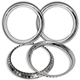 OxGord Trim Rings 16 inch diameter (Pack of 4) Chrome Steel Beauty Rims
