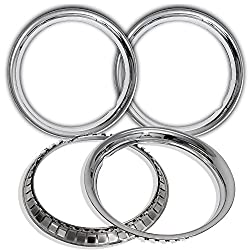 Oxgord Trim Rings 16 Inch Diameter (Pack Of 4) Stainless Steel Beauty Rims