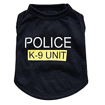 T Blacclothes Haustier Polizei Mantel Bekleidung Nette Weste Shirt Sommer Wlgreatsp Jacke Kostüme EDH2W9I