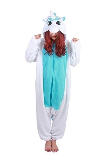 Fandecie Animal Costume Animal Traje Pijamas Pijamas Jumpsuit Kigurumi Unicornio Mujer Hombre Cosplay Adulto para Carnaval