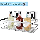 Vaccum Suction Cup Shower Caddy with Lavish Look, Robust Rustproof Stainless-Steel Vacuum Suction