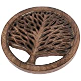 Mango Wood Tree of Life Trivet by Shared Earth
