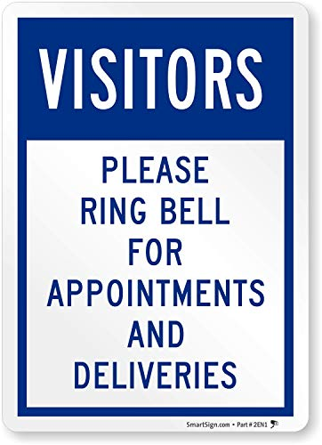 SmartSign Visitors - Please Ring Bell For Appointments And Deliveries Label | 5 x 7 Laminated Vinyl