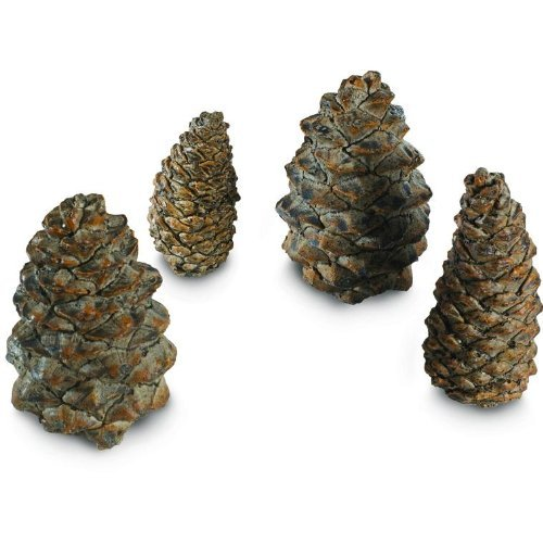 RH Peterson Gas Logs Decorative Ceramic Pine Cones In Assorted Sizes - Set Of 4 ()