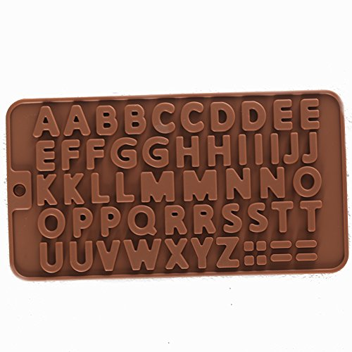 SK Letter Silicone Chocolate Mold Ice Cube Tray Jelly Candy Mold, Cake Baking Mold Decorating Silicone (Candy Letters For Cakes)