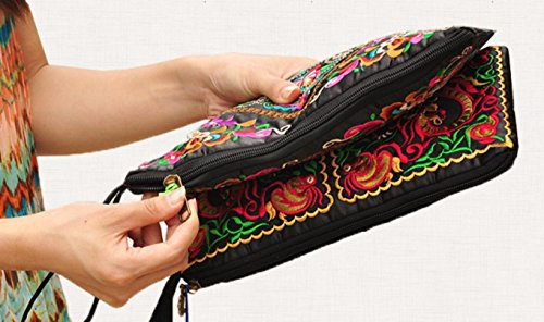 Retro Embroider Galsang Bag Ethnic Purse Charming Flowers Ladies Coin Vintage TFXWERWS Wallet wXUvtq1n