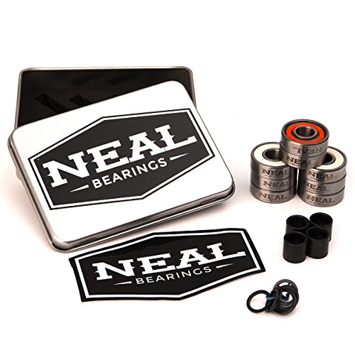 Bearings Hurricane - Neal Precision Hurricane Skate Bearings 608rs - Skateboard - Longboard - Inline - Scooter. The Best Bearings Guaranteed. (Orange/Swiss, 8 Pcs)