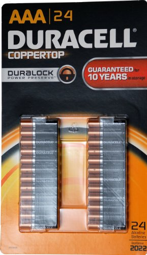 Duracell Coppertop AAA Batteris, 24 pack, Made in USA by DURACELL