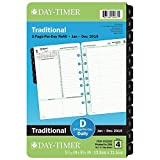 Day-Timer Refill 2019, Two Page per Day, January 2019 - December 2019, 5-1/2'' x 8-1/2'', Reference, Loose Leaf, Desk Size (92800)