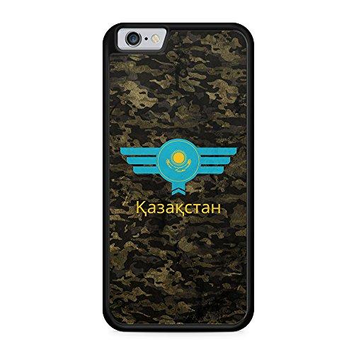 Kasachstan Kazakhstan Camouflage mit Schriftzug - Hülle für iPhone 6 Plus & 6s Plus SILIKON Handyhülle Case Cover Schutzhülle - Bedruckte Flagge Flag Military Militär