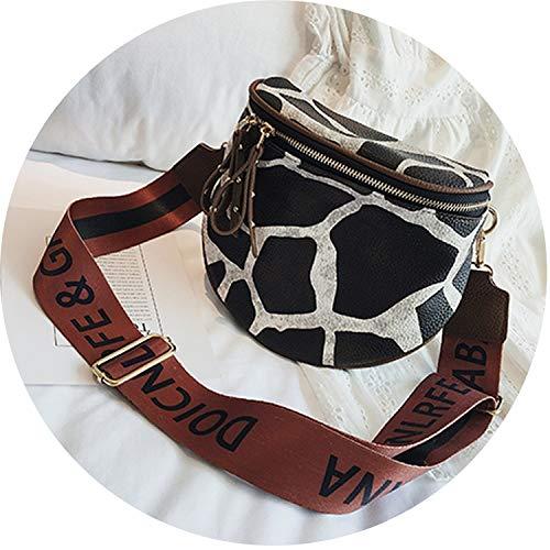 Leopard Print Bucket Woman Bag Pu Leather Crossbody Bags For Women Messenger Bags,Giraffe pattern,18x10x20cm
