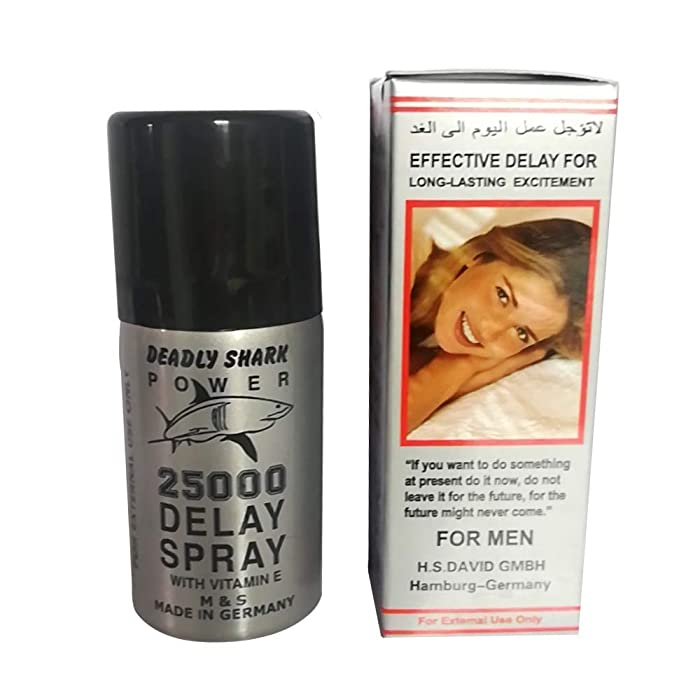 Deadly Shark 25000 Delay Spray for Mens with Vitamin E -(And) The Punisher Pill (Super Combo) Get Hard Stay Hard Plus Love Potion Pen