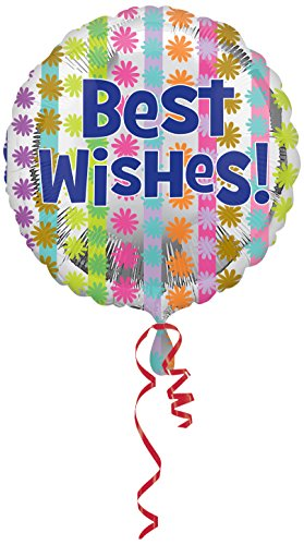 Anagram 18 Inch Circle Foil Balloon - Bright Best Wishes ()