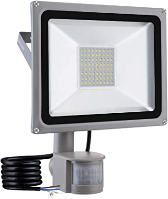 50w Led Foco Proyector con sensor movimiento para Exterior ...