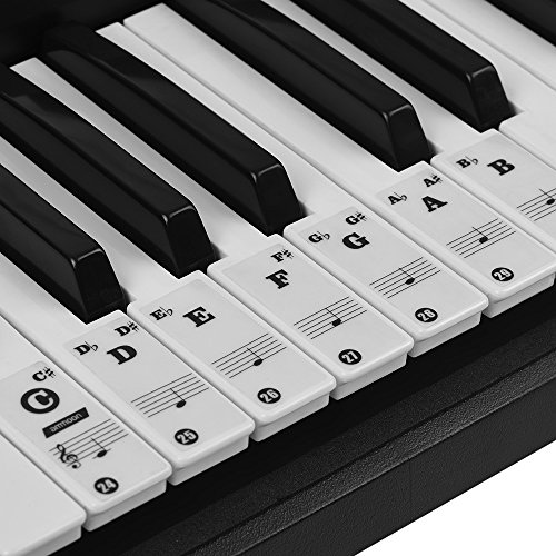 ammoon Piano Stickers Piano Keyboard Stickers for 37/49/61/88 Key Keyboards...