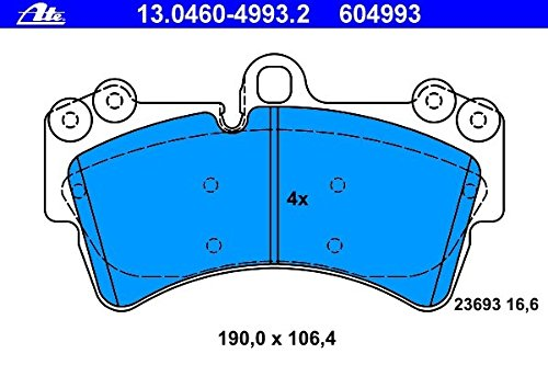 Front Brake Pads Audi Q7 & Volkswagen Touareg ATE GERMANY OEM 604993