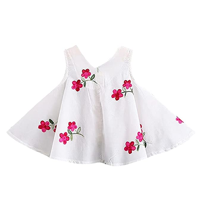 Wesracia Toddler Girls Summer Dress Heart Pattern Bowknot Sleeveless Princess Dresses