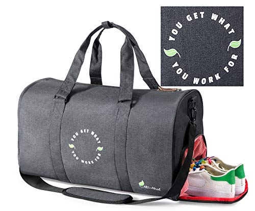 All Soul Great Gym Bag Duffel Gym Bag Black Weekender Duffel Bag with Shoe Compartment | For Men/Women/Boys/Girls/Workout/Crossfit/Sport/Gym/Travel/Fitness/Yoga/Athletes/Office