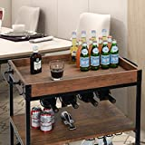 charaHOME Industrial Kitchen Serving Carts Rolling