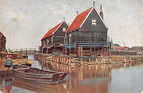 Water Scene Holland Postcard