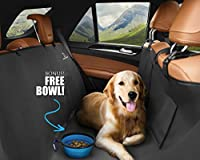 Unleashed Pets Car Seat Protector Cover | 3-in-1 Bench/Cargo Cover or Hammock | Water Resistant | Universal Design for Easy Install | Fits Most Cars | For Dogs, Pets of all Sizes + Bonus Food Bowl