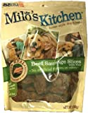 Milo's Kitchen Home-Style Dog Treats Beef Sausage Slices with Rice 30oz Bag, My Pet Supplies