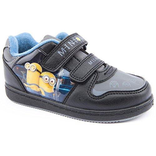 Personnage Minion Skate Chaussures pour garçon Noir