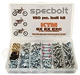 Specbolt Fasteners 150pc Maintenance Restoration OE Spec Motorcycle Bolt Kit for KTM SX EX EXC 2 Stroke: 50 60 65 85 105 125 250 300 360 380 550 4 Stroke: 250 350 400 450 500 520 525 530 620 640