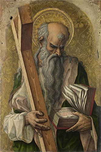 ['Carlo Crivelli - Saint Andrew,1476' Oil Painting, 12x18 Inch / 30x46 Cm ,printed On Polyster Canvas ,this Best Price Art Decorative Prints On Canvas Is Perfectly Suitalbe For Wall Art Decor And Home Artwork And] (Famous Musical Costume Designers)