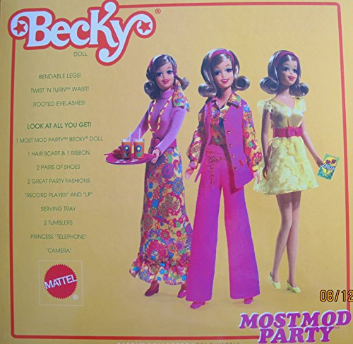(Barbie MOST MOD PARTY BECKY DOLL Set GOLD LABEL 50th Anniversary COLLECTOR w EXTRA FASHIONS & More! (2008))