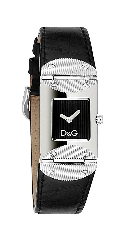 D&G Dolce&Gabbana Damen-Armbanduhr TWEED BLK DIAL BLK STRAP DW0325