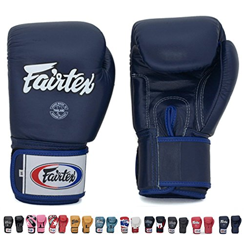 Fairtex Gloves Muay Thai Boxing Sparring BGV1 Size 8, 10, 12, 14, 16 oz in Black, Blue, Red, White, Pink, Classic Brown, Emerald Green, Thai Pride, US, Nation and more ()