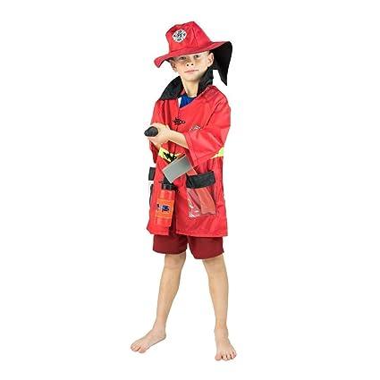 Bodysocks® Disfraz de Bombero para Niños: Amazon.es ...