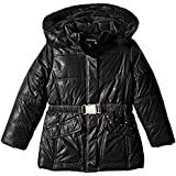 Rothschild Little Girls' Lace Print Puffer Coat