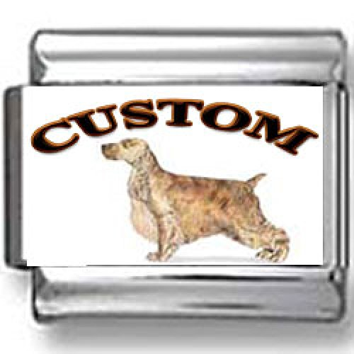 English Cocker Spaniel Dog Custom Photo Italian Charm ()