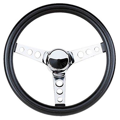 Grant Silver Basic Classic Foam Steering Wheel 13.5 Fits All Jeeps w/ Adapter CJ, YJ Wrangler # 838