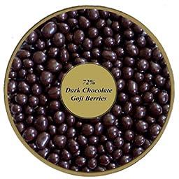 72% Dark Chocolate Covered Goji Berries